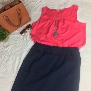 Loft Short sleeve Pink blouse